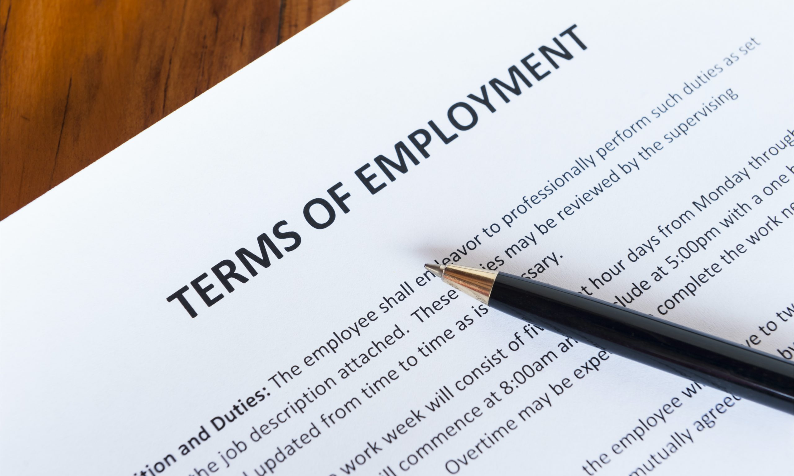 Terms of Employment for UK Sole Representative of an Overseas Business