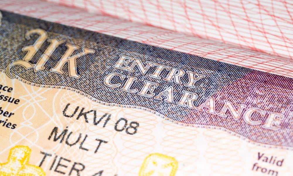 أنواع ملصقات تأشيرة بريطانيا